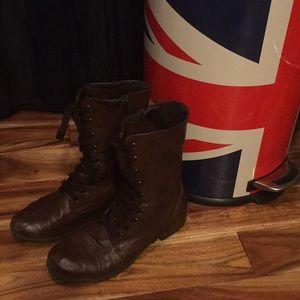 Combat Boots That Zip , Size 8 Brown. Target